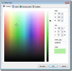 Using the Zeta Color Editor