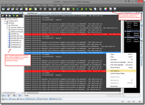 LogViewer in thge IDE!